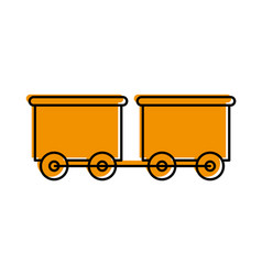 Train wagon toy isolated icon vector