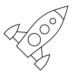 Universal rocket icon outline style vector