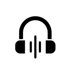 volume black glyph icon vector image