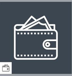 wallet thin line icon vector image