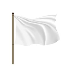 White flag waving on the wind vector image