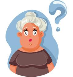 Women feeling insecure having questions cartoon vector