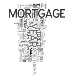 year mortgage text word cloud concept vector image