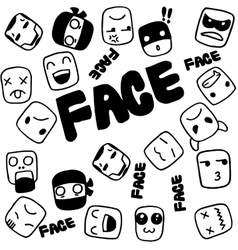 Face Doodle for kids vector image