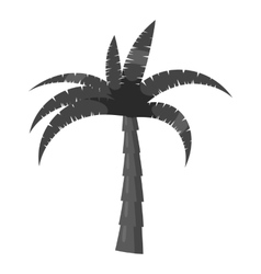 Palm tree icon gray monochrome style vector image vector image