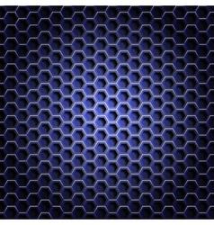 Realistic hexagonal grid background vector image vector image