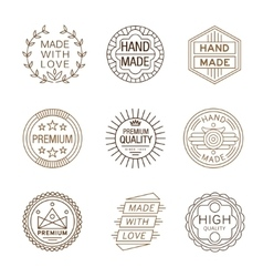 Retro Design Insignias Logotypes Hand Made vector image
