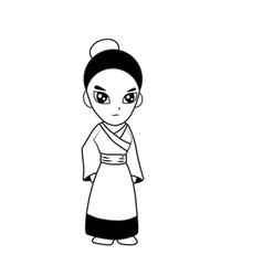 Woman cartoon vector image