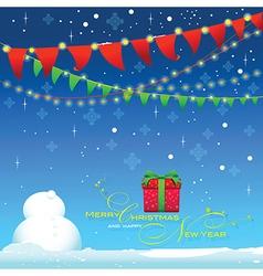 Back drop Celebrate winter season blue background vector image vector image