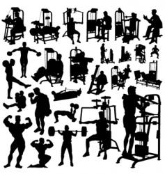 fitness men vector image