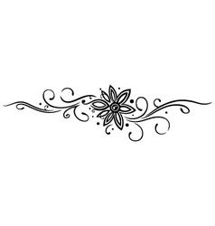 Flower tribal vector