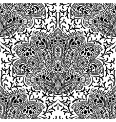 Indian ethnic seamless pattern with hand drawn vector image