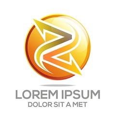 letter symbol element vector image