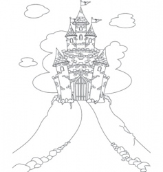 magic castle coloring page vector image