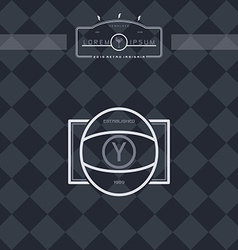 modern insignia vintage label vector image