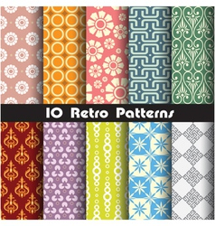 retro pattern unit collection 1 vector image vector image