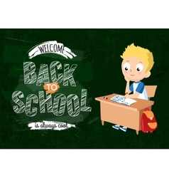 Back to school background with pupil vector image vector image