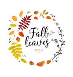 floral watercolor style card design autumn season vector image vector image