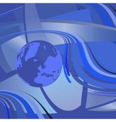 illustration map of world vector image