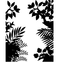 Nature silhouette background vector image vector image