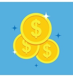 Coins icon in a flat style vector image