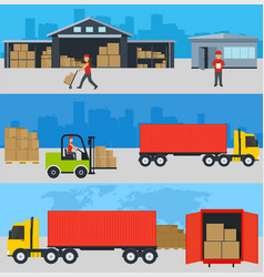 concept of services in delivery of goods loading vector image vector image