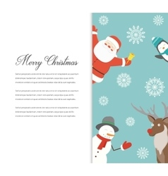 Funny Merry Christmas card Christmas characters vector image