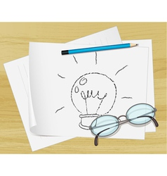 Lightbulb idea paper vector