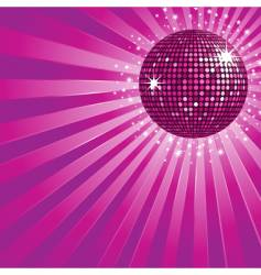 purple disco ball and stars vector image vector image