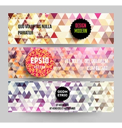 Quirky Web Banner Set vector image vector image