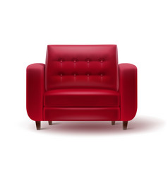 red armchair for home or office interior vector image vector image