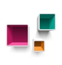 Retro cube shelves vector image vector image