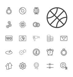 22 circle icons vector