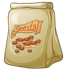 A pack of nut seeds vector