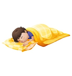 A young man sleeping soundly vector image