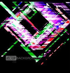 Abstract square shapes colors on a black vector