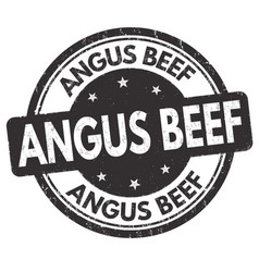 angus beef grunge rubber stamp vector image