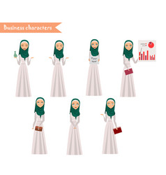 Arab girl character for scenes vector