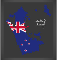 Auckland council new zealand map with national vector
