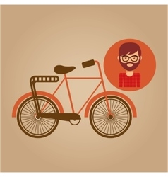 bicycle vintage icon retro background design vector image