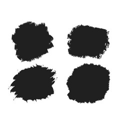 black ink brush stainbrush strokes banners vector image