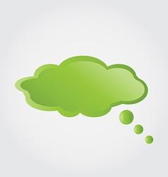 bubble green cloud vector image