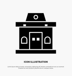 Building office ticket urban solid glyph icon vector