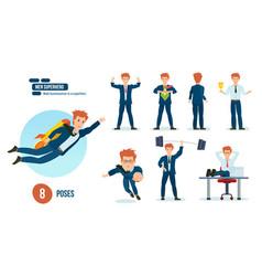 businessman is superhero business clothes vector image