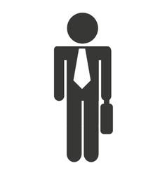Businessman man briefcase icon vector