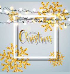 christmas background with typography and shiny vector image