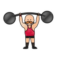 Circus strongman icon image vector