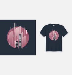 city dimensions t-shirt abstract geometric vector image