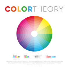 Color theory template with circle vector
