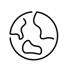 contoured line monochrome planet earth simple icon vector image